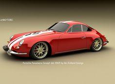 Porsche Panamera 1965 Design Concept by Bo Zolland - Red Side Angle - - Wallpaper Porsche Panamera, Porsche 356 Speedster, Ferdinand Porsche, Porsche Modelos, Porsche Replica, Volkswagen, Automobile, Vintage Porsche, Porsche Cars