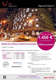 ¡Últimas plazas! Puente de Diciembre en Nueva York salida desde Barcelona. Precio final desde 1.450€ - http://zocotours.com/ultimas-plazas-puente-de-diciembre-en-nueva-york-salida-desde-barcelona-precio-final-desde-1-450e-2/