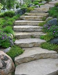 stone curved staircase
