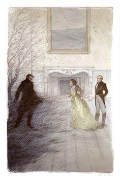 Heathcliff, Catherine and Edgar