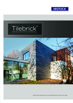 Tile brick Brochure  Mortarless brickwork appearance creating innovative and contemporary architecture.