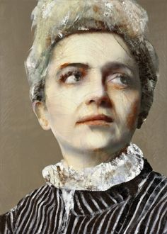 MADAME CURIE, Lita Cabellut (b1961, born a gipsy girl in the streets of El Raval in Barcelona, Cabellut was adopted at the age of 13)...