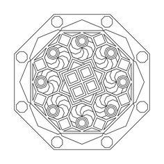 Free printable mandala coloring pages