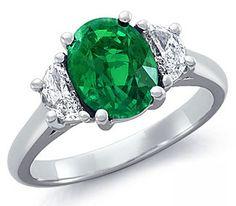 emerald rings.  my birth stone