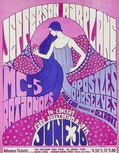 Never lose your boho spirit. ~ETS (Jefferson Airplane, MC5 and the Rationals at Ford Audatorium.)