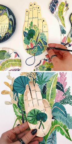 You'll Want to Get Lost in These Colorful Jungle Illustrations Jungle illustrations by Amber Davenport Ceramic Clay, Ceramic Pottery, Pottery Art, Clay Projects, Clay Crafts, Arts And Crafts, Jungle Illustration, Pottery Sculpture, Paperclay