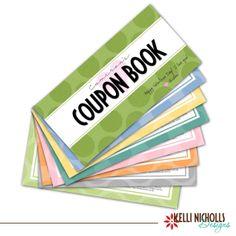 Printable Valentines Coupon Book by KelliNichollsDesigns on Etsy, $10.00