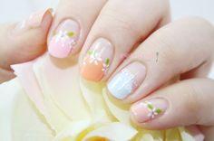 화관 프렌치 봄 셀프네일아트 ♥ : 네이버 블로그