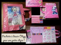 """Pochette a dessin Petite Chipy par Frédérique.  #Toutlemondeasachipy #Petitebiounette """"Chipy Frederique, Lunch Box, Pouch Bag, Everything, Drawing Drawing, Bento Box"""