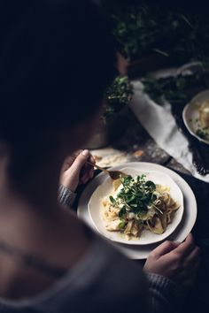 Papperadelle Pasta with Wild Garlic and Cheese - ChristiannKoepke.com