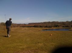 A view of the par 3 twelfth hole at Blackwood