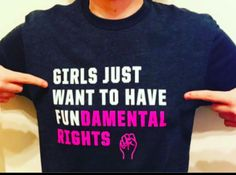 """aliiithrorne wearing Cyndi Lauper's """"Girls Just Want to Have Fundamental Rights"""" shirt!"""