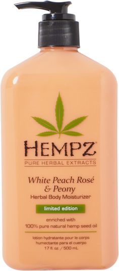 Hempz White Peach & Rose' Herbal Body Moisturizer provides dramatic skin hydration and nourishment to help improve the overall health and condition of skin. Peach Bathroom, Fragrant Candles, Shampoo Bottles, Peach Fruit, Floral Shower Curtains, Herbal Extracts, Glazes For Pottery, Peach Rose, Shea Butter