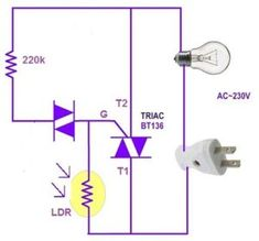 automatic street light circuit is circuit that automatic turn on the light in the eveninng. Intelligent street light contror we are going to design a cricut Electronic Circuit Projects, Electronics Projects, Arduino, Ac Circuit, Simple Circuit, Solar Deck Lights, Electrical Circuit Diagram, Cool Pictures, Told You So