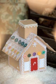 Новогодний домик из фетра