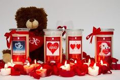 Jewelry Candles Valentines Day 4 Pack!-Valentines Day Jewelry Candles-The Official Website of Jewelry Candles - Find Jewelry In Candles!