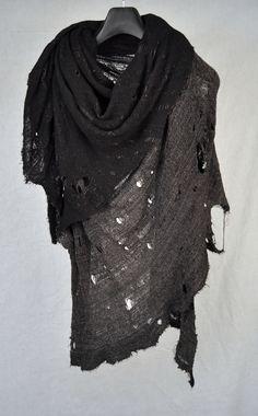 tissutire:  Tissu Tiré Black Grey 2 Tone Cotton Lycra Scarf S-004-COLY4 Like - Facebook Shop - H. Lorenzo