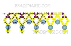Free pattern for beaded necklace Miranda   U need: seed beads 11/0 pearl beads 4 mm