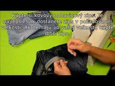 Kurz šitia - Všívanie zipsu do nohavíc - YouTube