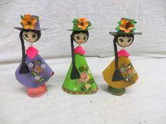 Tonala pottery 3 dolls