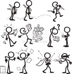 Stickfigure confrontation - Sometimes people are bad for personal gain, some have no morals - something I've experienced first hand!