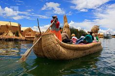 Lake Titicaca, Peru - these man made floating islands are interesting....