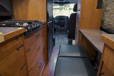 Sprinter RV conversion by Allen Sutter, looking towards the front