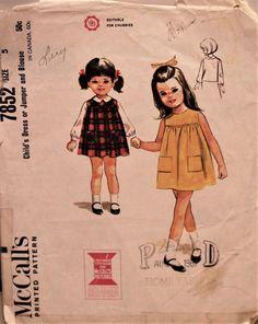 Simple little dress - 1965 McCall's #7852 #supplies @EtsyMktgTool #vintagepattern #vintagemccall's #mccall's7852 #60spattern #60smccall's