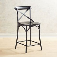 Zach Black Counter Stool | Pier 1 Imports Modern Home Furniture, Find Furniture, Unique Furniture, Black Counter Stools, Black Counters, Papasan Chair, Dining Room Sets, Inspired Homes, Great Rooms