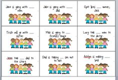Free pronoun activity with she, he, him, and her