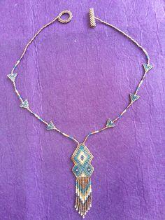 Brick stitch necklace. .