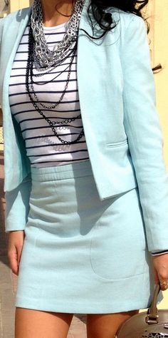 Amazing Business Outfits Light blue suit