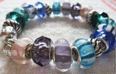 Striped-Pandora Style bracelet,  my shop helenkagood.livemaster.ru
