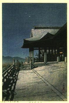 Kiyomizu Temple, Kyoto(1933)   Kawase Hasui  清水寺
