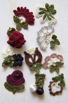 oya crochet motif; non ci sono schemi, ma si possono dedurre osservando.