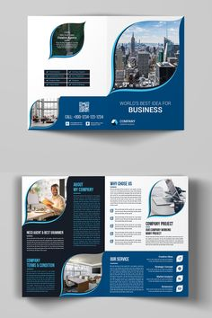 This Bi-Fold Brochure design can be used by all businesses and any organization. This design was created by two software. The original file contains 20 Company Brochure Design, Brochure Cover Design, Graphic Design Brochure, Corporate Brochure Design, Bi Fold Brochure, Booklet Design, Brochure Layout, Corporate Identity, Brochure Template