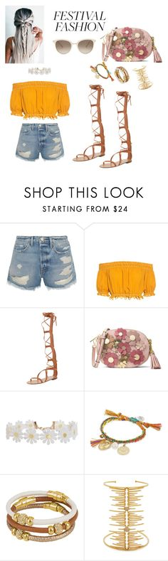 """""""Untitled #285"""" by lillylilit ❤ liked on Polyvore featuring Frame, Apiece Apart, Valentino, MICHAEL Michael Kors, Humble Chic, Venessa Arizaga, Henri Bendel, Joanna Laura Constantine, Chopard and festivalfashion"""