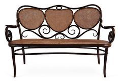 Beautiful Bentwood Thonet Bench Restored And Refinished With All Original  Caning. Kelie Grosso, Owner And Design Director Of Maison Luxe, Creates  Relaxed,.