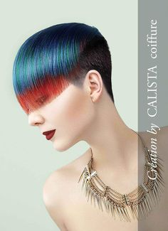 From red to blue, brilliant and intense colors are what Calista Coiffure features in these powerful hairstyles for a woman in charge. Neon pink and el. Competition Hair, Men Hair Color, Corte Y Color, Fantasy Hair, Coloured Hair, Wild Hair, Hair Shows, Creative Hairstyles, Hair Blog