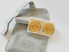Christian Dior Large Monogram Clip On by RockArtemisVintage, $125.00