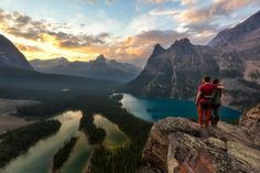 View from the Opabin Prospect towards Lake O'hara in Yoho National Park. Best Hikes in the Canadian Rockies Honeymoon Photography, Hiking Photography, Yoho National Park, National Parks, Photos Voyages, Canadian Rockies, Best Hikes, Day Hike, Canada Travel