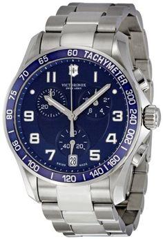 Swiss Army Chronograph Classic Blue Dial Men's Watch - V241497 - http://www.specialdaysgift.com/swiss-army-chronograph-classic-blue-dial-mens-watch-v241497/