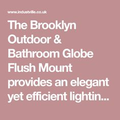 Brooklyn Outdoor & Bathroom Globe Flush Mount - Pewter - Pre-Order Now - Expecting w/c of June