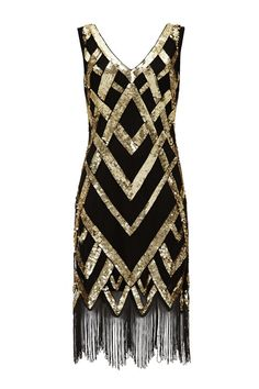 UK24 US20 AUS24 Glitz Black Gold Vintage inspired by Gatsbylady