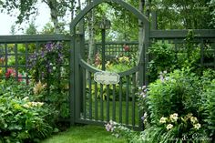 grid fence style with pretty gate