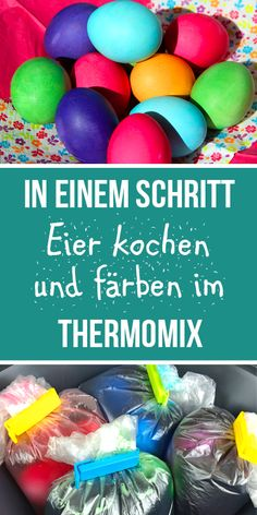Eier färben und kochen in einem Schritt im Thermomix Is not that a great idea? It is so easy and wor Easter Brunch, Easter Gift, Happy Easter, Marshmallow Peeps, Dog Mixes, Boiled Eggs, First Step, Easter Eggs, Food And Drink