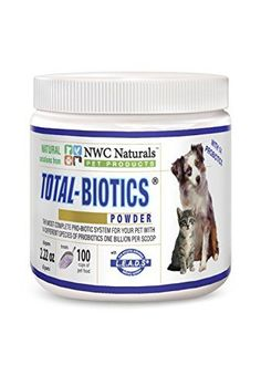 NWC Naturals TotalBiotics  Probiotics for Canines and Felines  Treats 100 Cups of Pet Food Superior Formula *** Want additional info? Click on the image.(This is an Amazon affiliate link and I receive a commission for the sales)