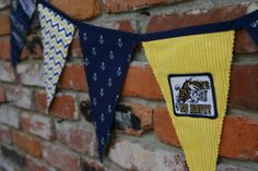 Navy / Naval Academy Banner / Flag Bunting by AttawayToGoDesigns, $30.90