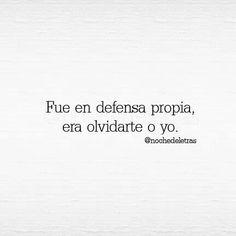 En defensa.