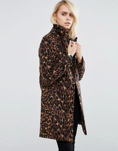 Buy New Look Petite Dark Leopard Print Over Coat at ASOS. With free delivery and return options (Ts&Cs apply), online shopping has never been so easy. Get the latest trends with ASOS now. Asos, Nylons, Leopard Coat, Action, Models, Fall Wardrobe, Capsule Wardrobe, Slim Fit, Business Fashion
